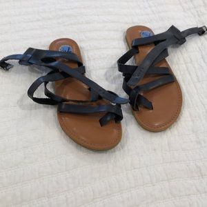 Rampage blue leather sandals 7.5